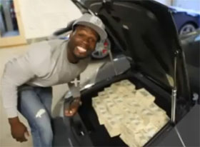 Range Rover Parts >> Video: 50 Cent Fills Lamborghini With 2 Million USD