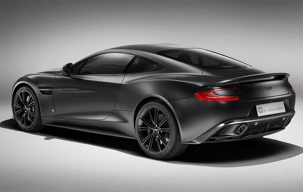 Aston Martin Vanquish Satin Jet Black Q Photo - Black aston martin vanquish