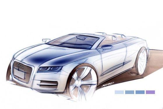 audi a5 sportback a5 cabrio a7 r8 spider and a8 sketches. Black Bedroom Furniture Sets. Home Design Ideas