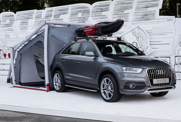Audi Q3 Camping Tent and Accessories