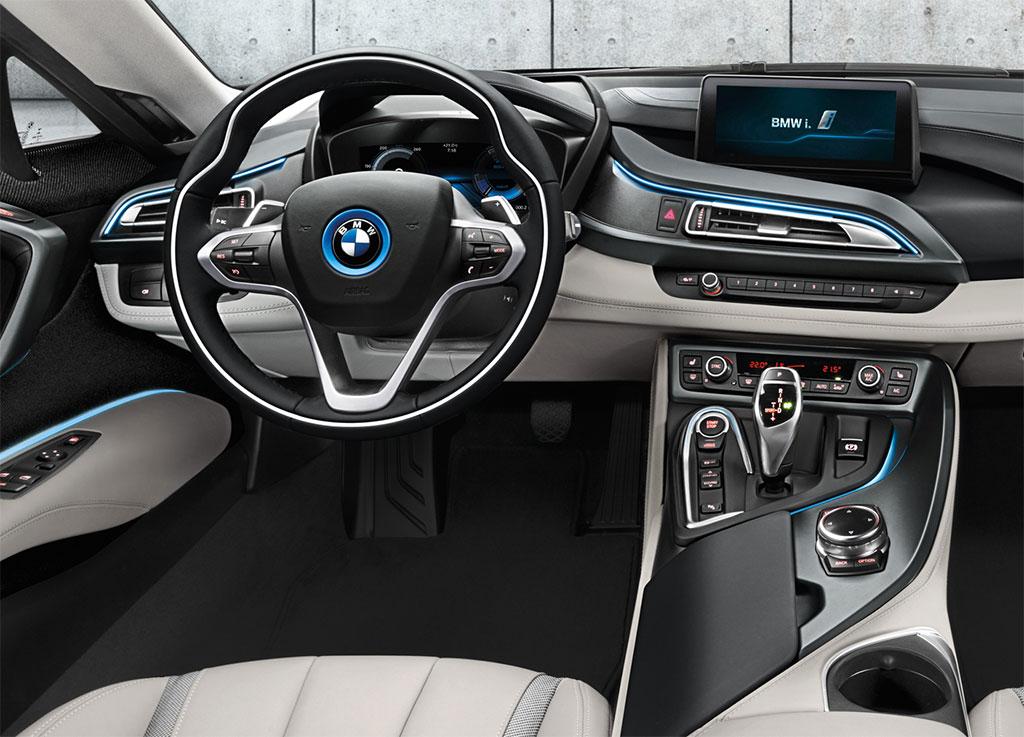 Bmw i8 production interior images for I 8 interior
