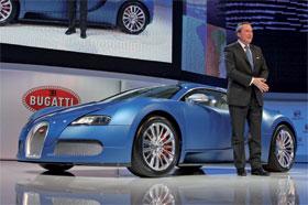 Bugatti Veyron Bleu Centenaire sold in Geneva Photos