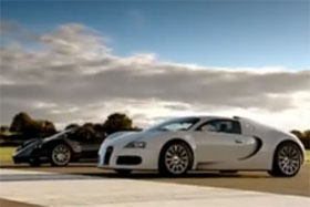 bugatti veyron vs pagani zonda f video
