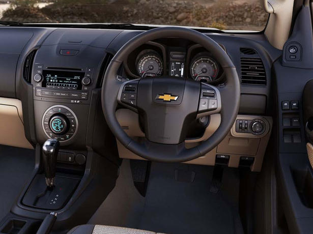 The interior of the Chevrolet Colorado has also been re-styled for