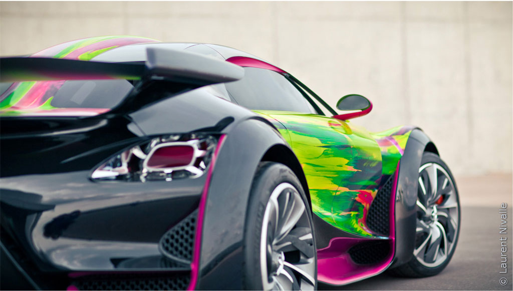 Citroen Survolt Art Car 1 Citroen SURVOLT Concept CRAZY Art Car by Francoise Nielly: