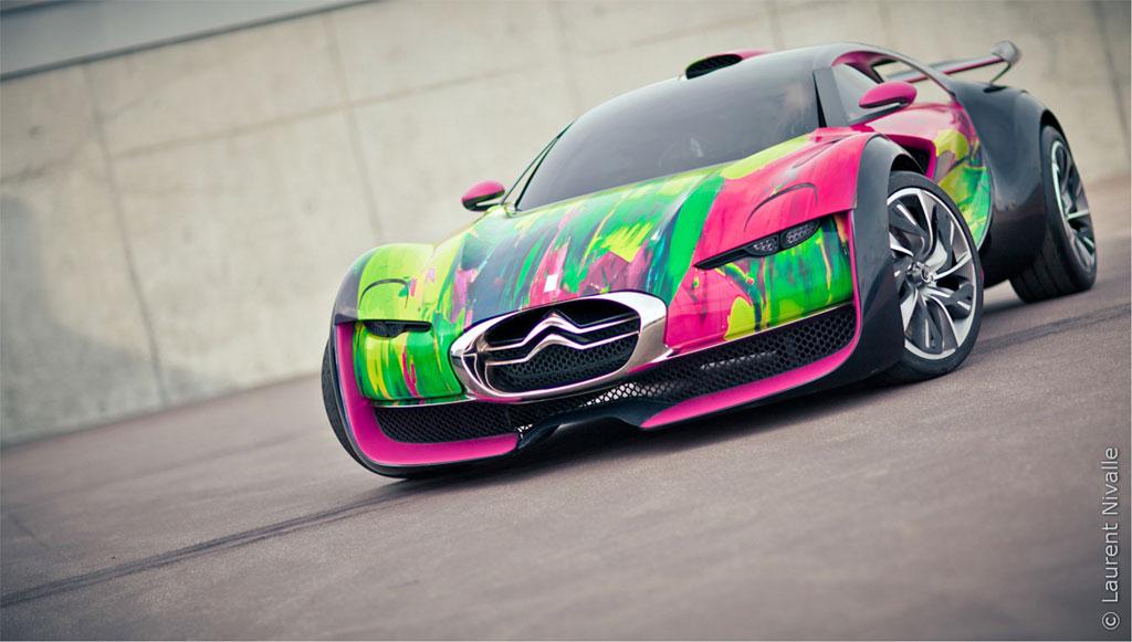 Citroen Survolt Art Car 3 Citroen SURVOLT Concept CRAZY Art Car by Francoise Nielly: