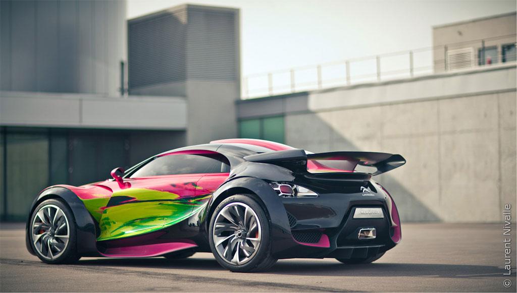 Citroen Survolt Art Car 5 Citroen SURVOLT Concept CRAZY Art Car by Francoise Nielly: