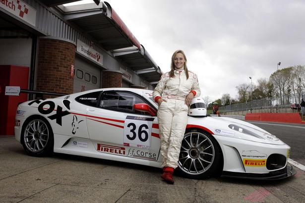 Vicki At Ferrari F430 Challenge