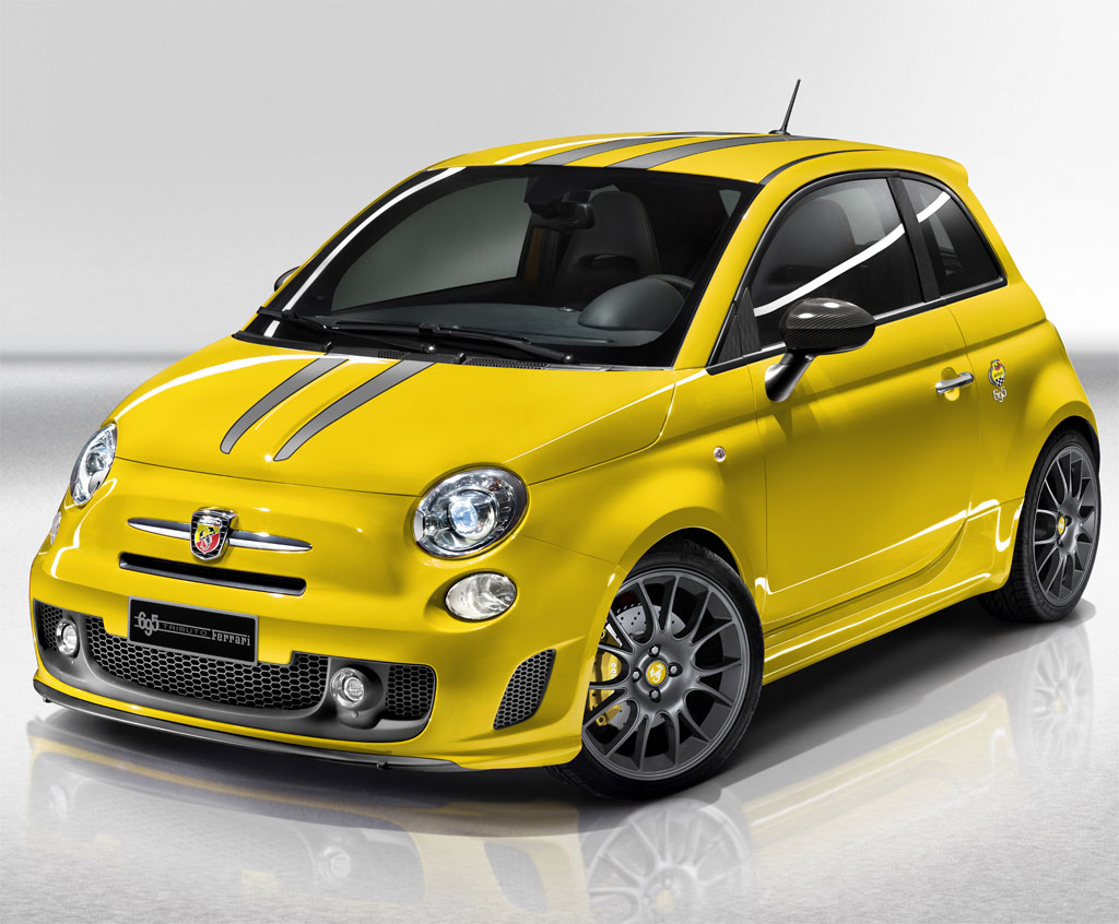 Yellow Abarth Fiat 500 Tributo Ferrari Photo 1 9956