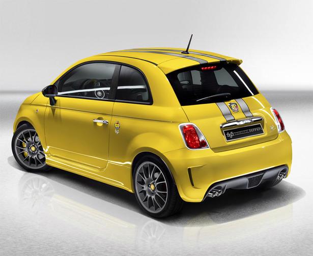 Yellow Abarth Fiat 500 Tributo Ferrari