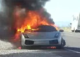 Lamborghini Gallardo On Fire Video