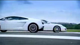 lamborghini gallardo lp560 4 vs porsche 911 gt2 on top gear video. Black Bedroom Furniture Sets. Home Design Ideas
