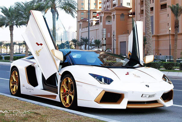 Lamborghini Aventador Gets Gold Treatment For Qatar