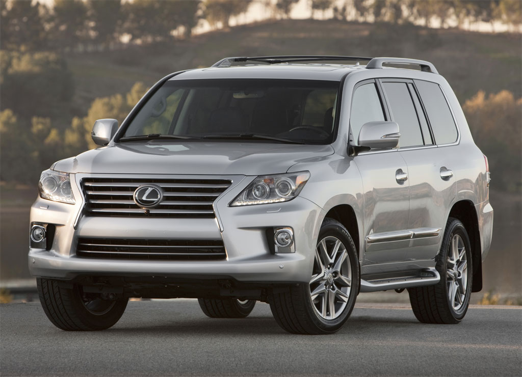 2012 Lexus LX front angle photo