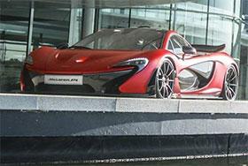 McLaren P1 Satin Volcano Red by MSO Photos