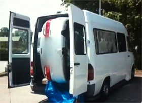 Video Mercedes Sprinter Becomes Mazda Transport Van