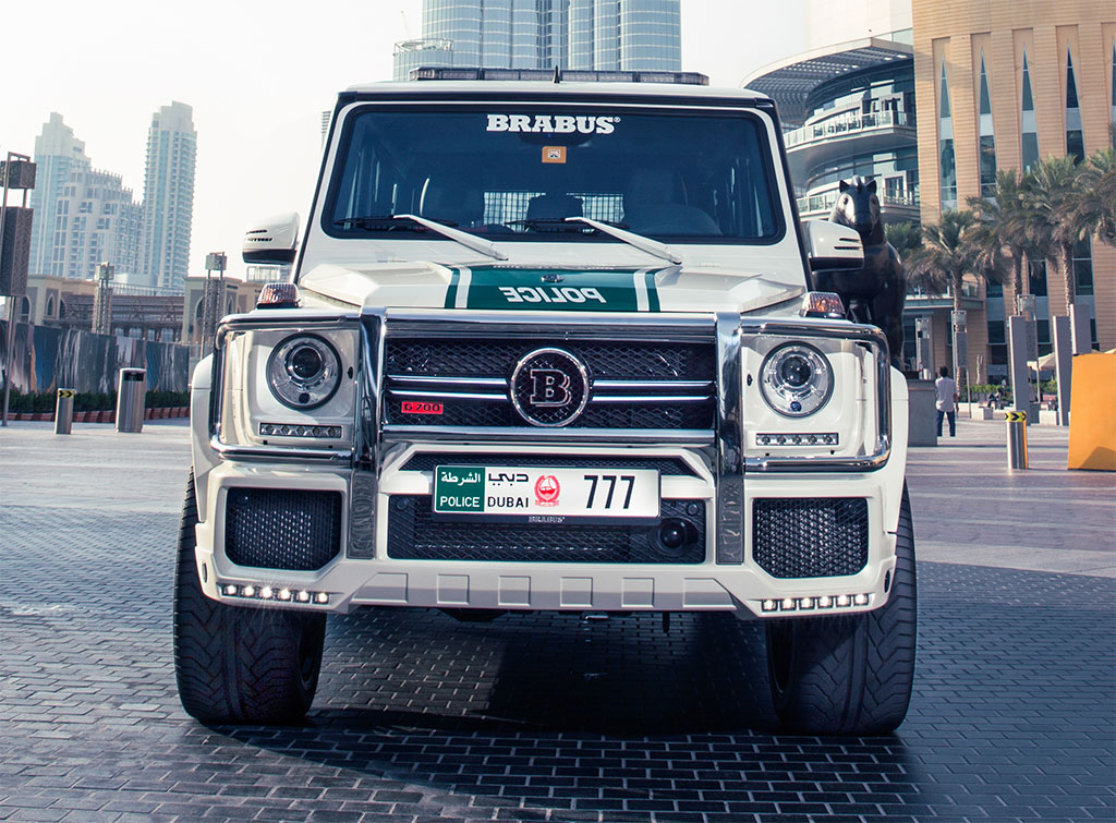 Awesome Brabus Mercedes G63 AMG Dubai Police Car 5