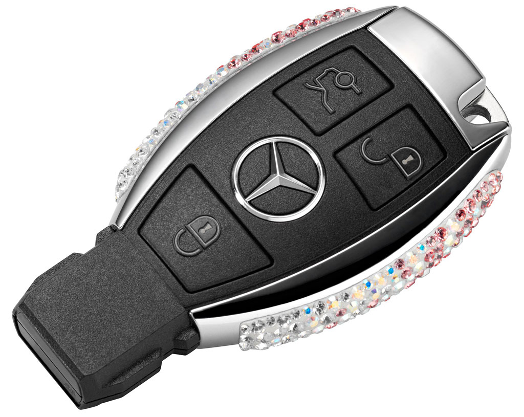 Swarovski mercedes keys photo 2 9857 for Mercedes benz keys replacement cost