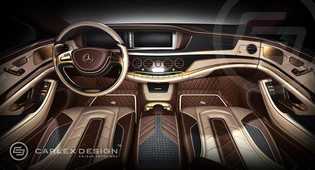 2014 Mercedes S Class Gold Interior By Carlex