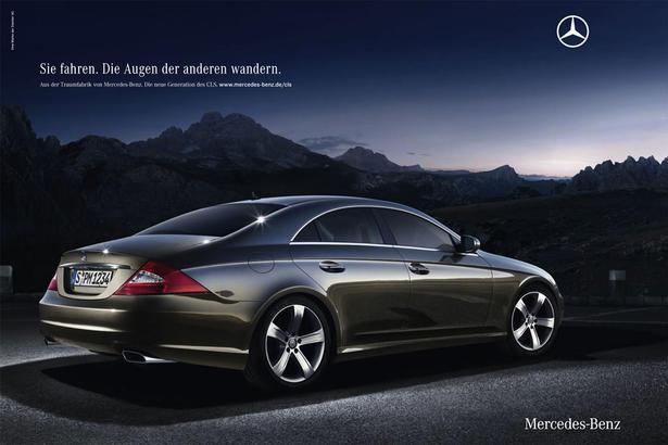 Mercedes sl slk and cls culture of driving ad campaign for Comercial mercedes benz