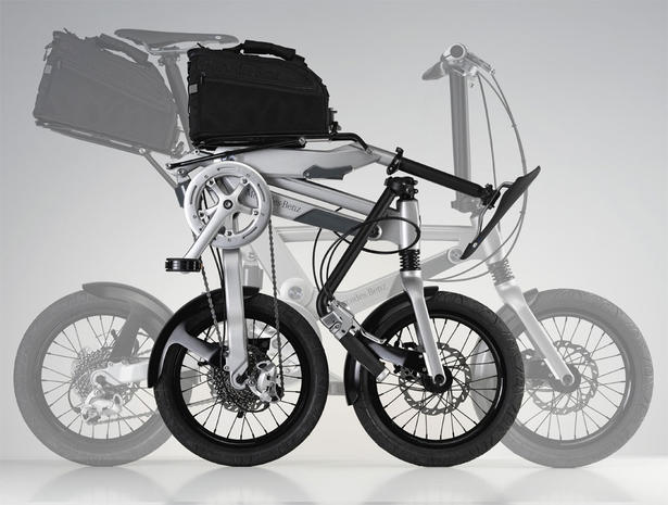 mercedes folding bike. Black Bedroom Furniture Sets. Home Design Ideas