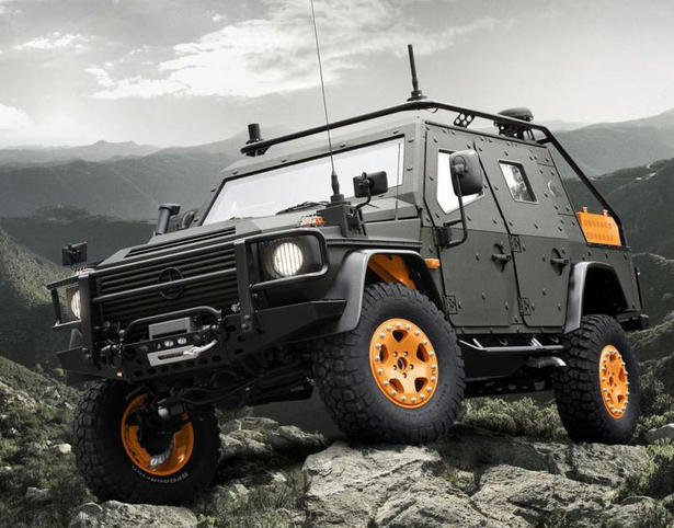 Mercedes g wagon armoured vehicle for Mercedes benz armored