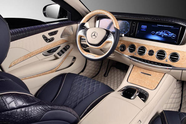 Mercedes S600 Guard with Crocodile Leather Interior by TopCar