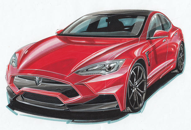 Larte Builds Custom Tesla Model S Bodykit From Volcanic Rock