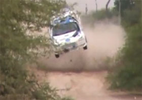mitsubishi evo rally crash video