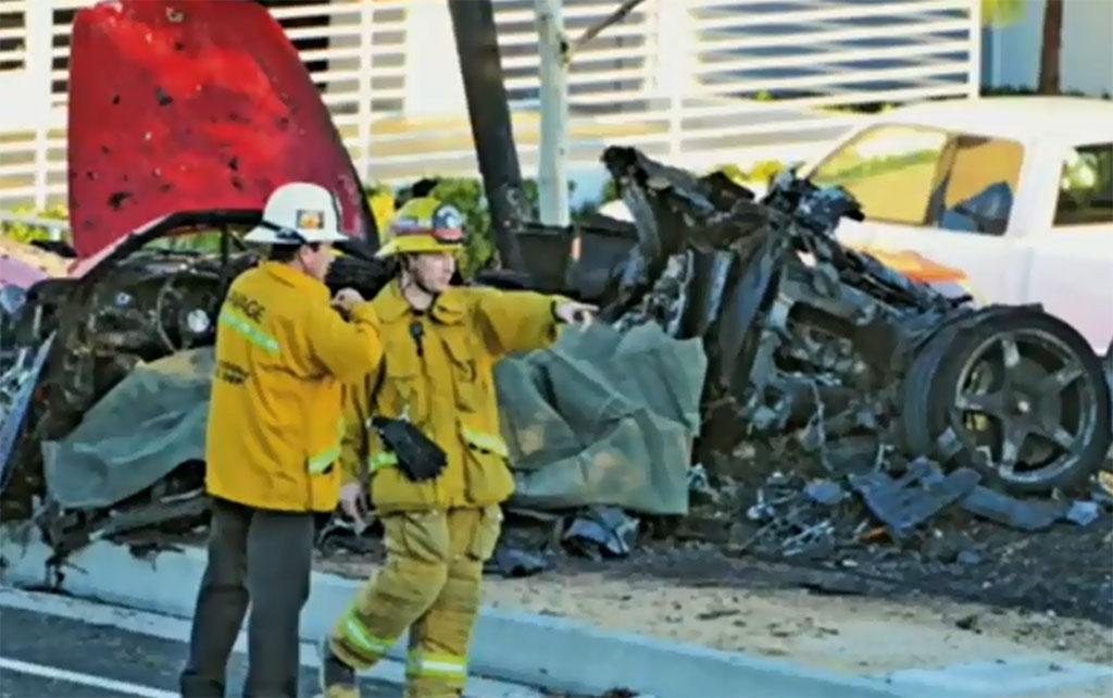 Porsche Carrera gt Paul Walker Porsche Carrera gt Crash