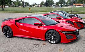 Red Acura NSX Puts Darth Maul To Shame Photos
