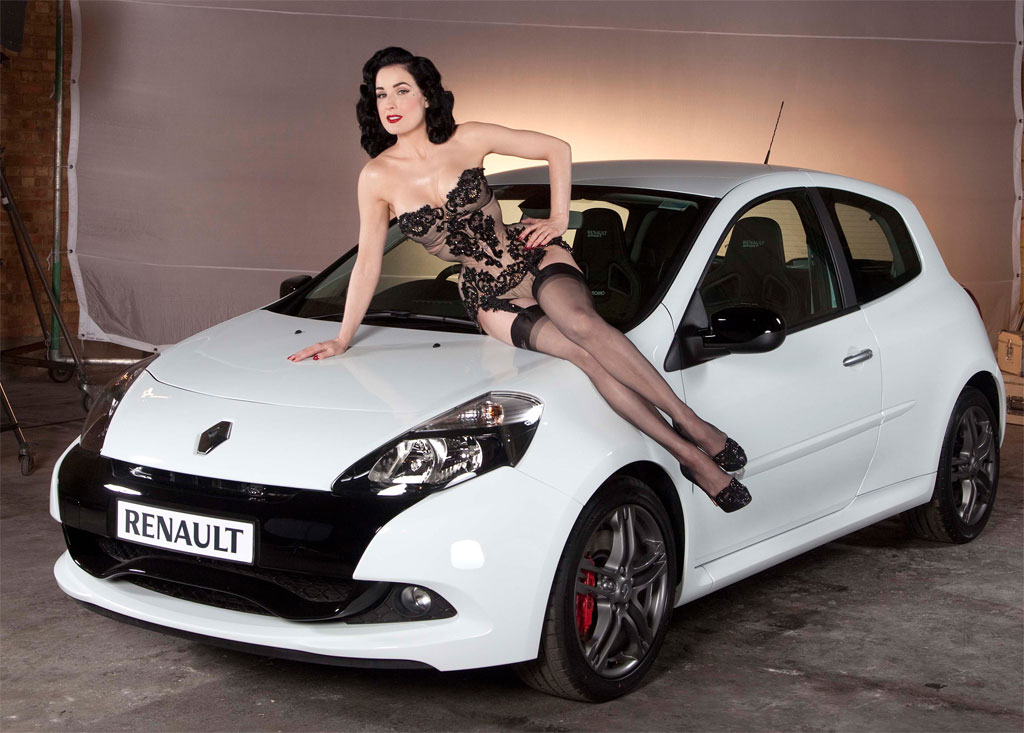 rihanna, dita von teese and thierry henry renault clio ad photos ...