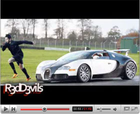 Bugatti on Bugatti Veyron Video Home News Bugatti Ronaldo Vs Bugatti Veyron Video