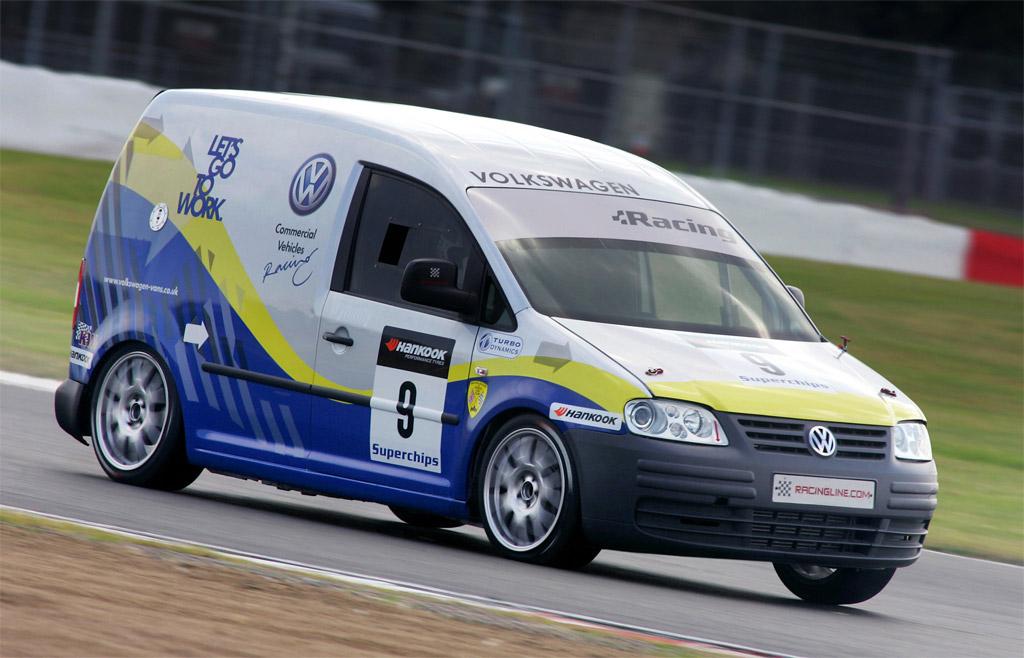 Volkswagen Caddy Racing on Under Car Roller