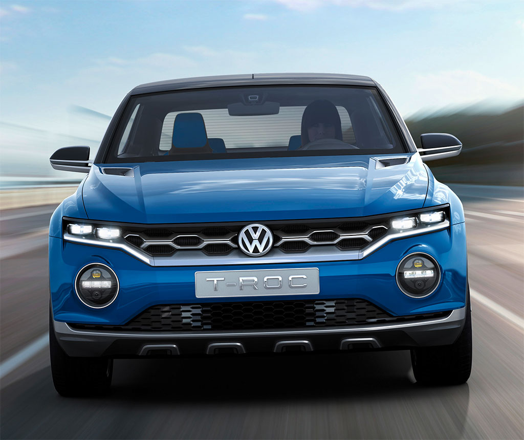 vw t roc concept release date price and specs. Black Bedroom Furniture Sets. Home Design Ideas
