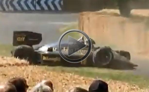 1986 Lotus 98T Formula 1 Crashes At Goodwood
