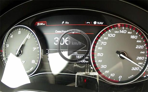 abt audi  top speed run