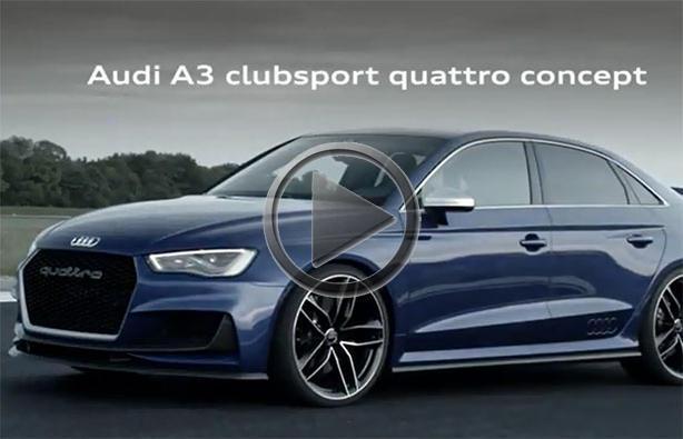 Audi A3 Clubsport Quattro Promo
