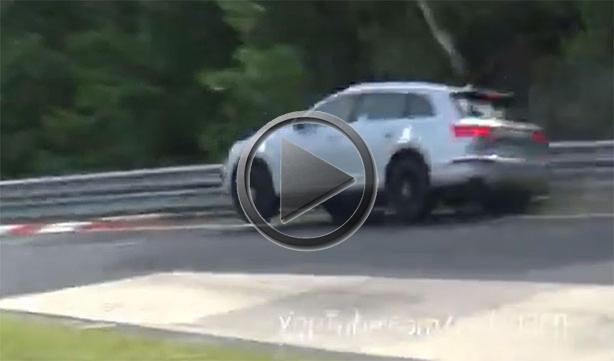 Audi SQ Prototype Crashes On The Nurburgring Carousel - Carousel audi
