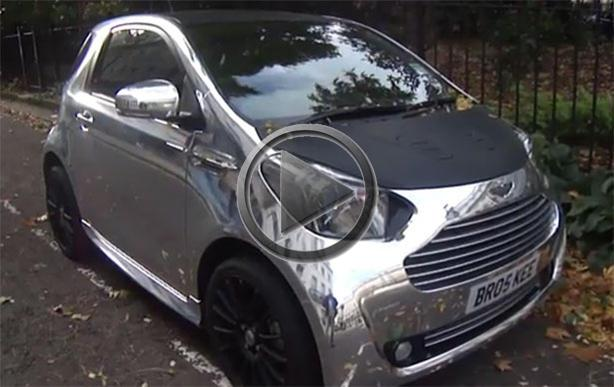 Chrome Aston Martin Cygnet