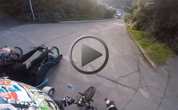 Drift Trike Riders Attack The Steepest Road In The World