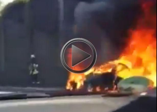 First Ferrari Ff On Fire