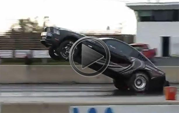 Ford Mustang Cobra Jet Wheelie And Crash