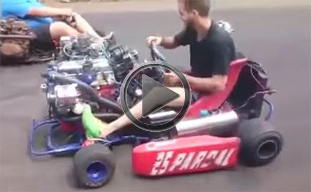 go kart gets 4 cylinder turbocharged engine zercustoms