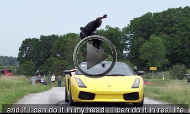 Kobe Bryant Aston Martin >> Guy Jumps Over Speeding Lamborghini Gallardo