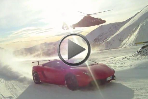 Range Rover Vs Land Rover >> Helicopter vs Lamborghini Gallardo Super Trofeo Stradale