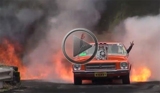 Holden Hq Does A Burnout From Hell