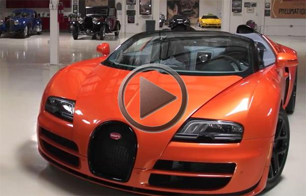 Jay Leno Reviews The Bugatti Veyron Grand Sport Vitesse