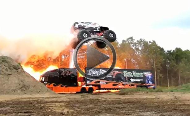 Joe Sylvester Sets Monster Truck Jump Record