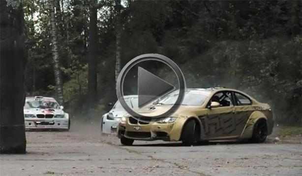 Nissan 350Z And BMW M3 Drifting In Soviet Missile Base